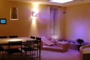 Impianto luci studiato per salotto villa Consoli a Como