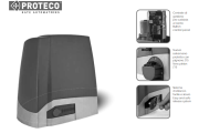 Motoriduttore elettromeccanico per cancelli scorrevoli a cremagliera per uso residenziale e collettivo